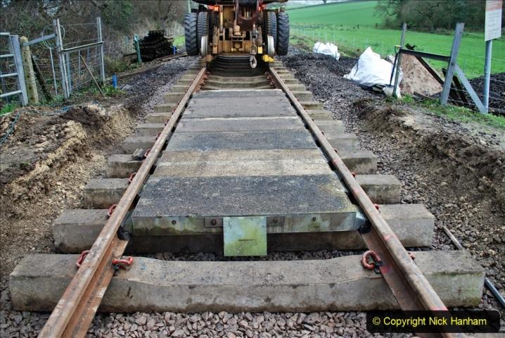 2020-01-08 Track renewal Cowpat Crossing to just beyond Dickers Crossing. (125) 125