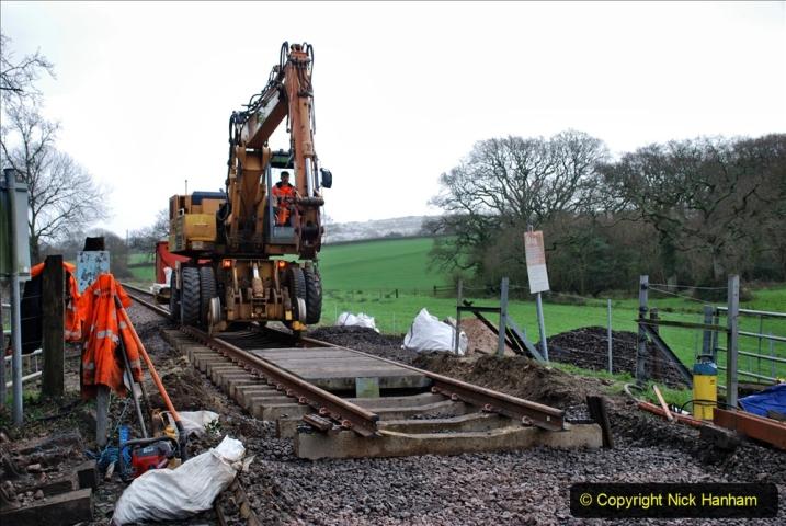 2020-01-08 Track renewal Cowpat Crossing to just beyond Dickers Crossing. (132) 132