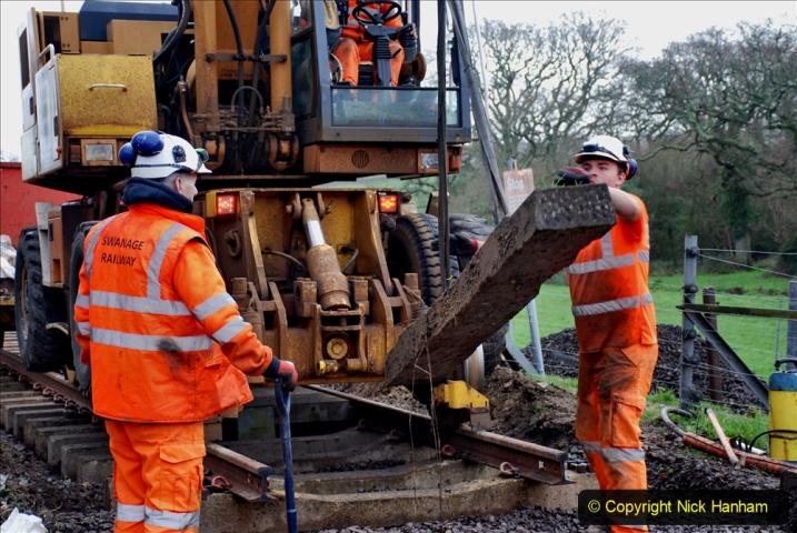 2020-01-08 Track renewal Cowpat Crossing to just beyond Dickers Crossing. (135) 135