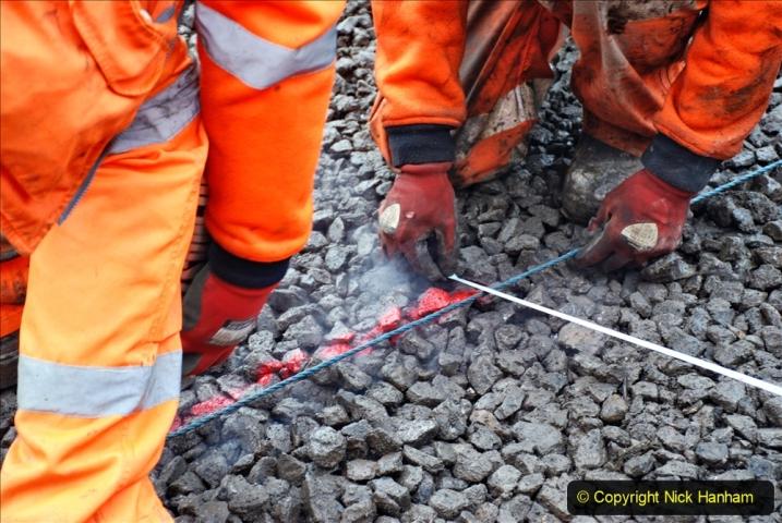 2020-01-08 Track renewal Cowpat Crossing to just beyond Dickers Crossing. (151) 151