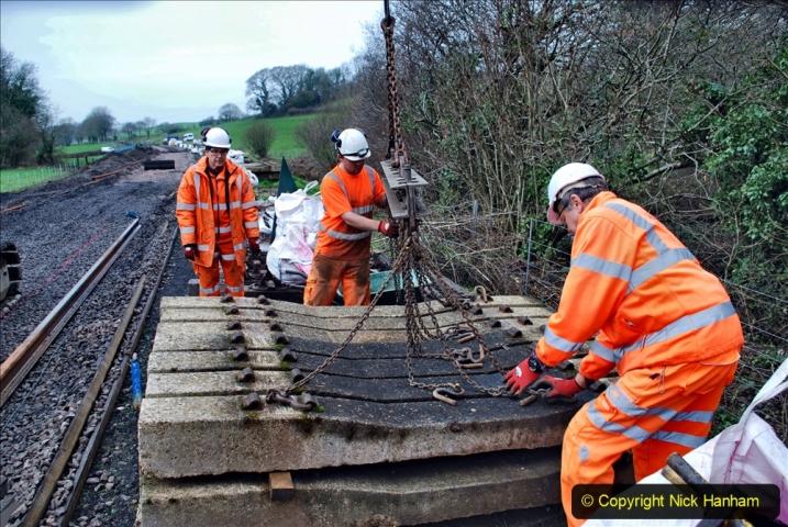 2020-01-08 Track renewal Cowpat Crossing to just beyond Dickers Crossing. (157) 157