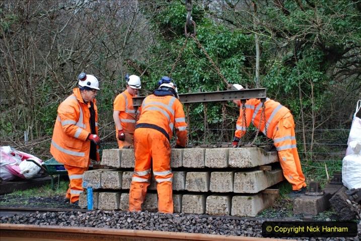 2020-01-08 Track renewal Cowpat Crossing to just beyond Dickers Crossing. (158) 158