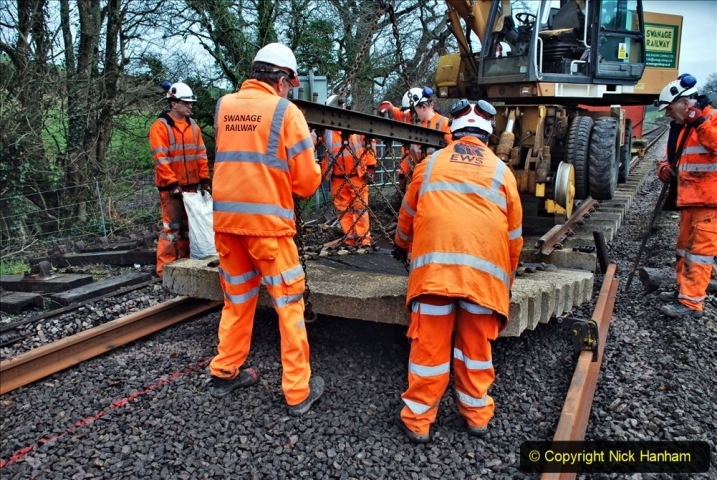 2020-01-08 Track renewal Cowpat Crossing to just beyond Dickers Crossing. (161) 161