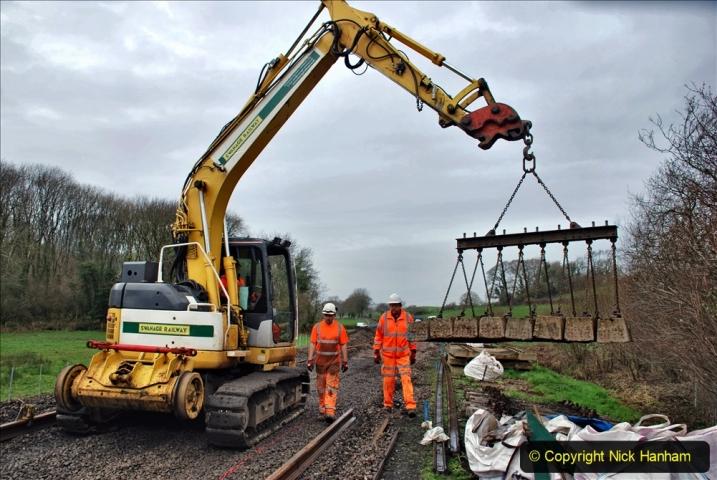2020-01-08 Track renewal Cowpat Crossing to just beyond Dickers Crossing. (174) 174