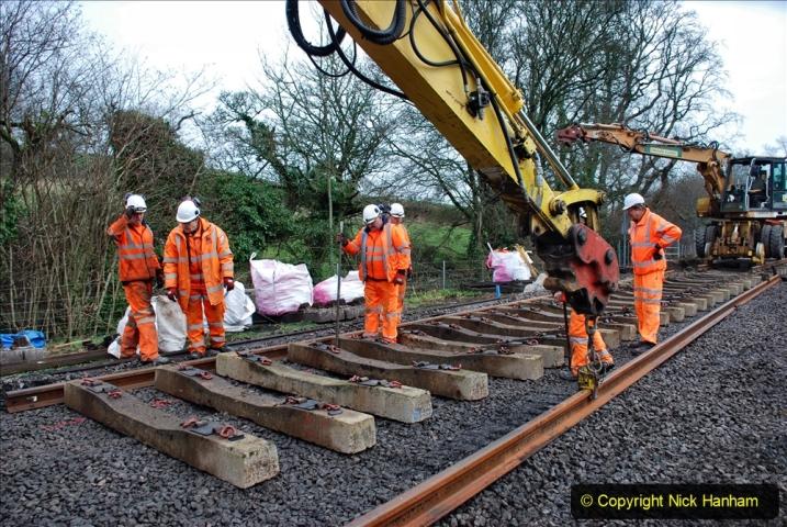 2020-01-08 Track renewal Cowpat Crossing to just beyond Dickers Crossing. (186) 186
