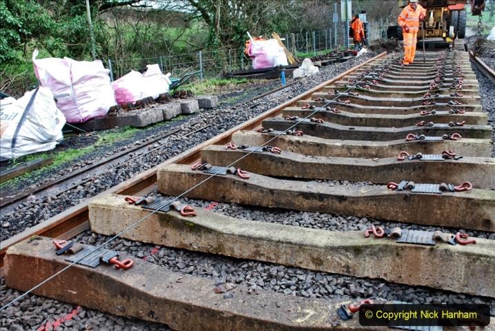 2020-01-08 Track renewal Cowpat Crossing to just beyond Dickers Crossing. (187) 187