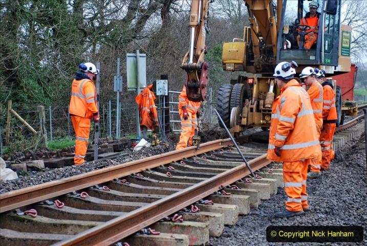 2020-01-08 Track renewal Cowpat Crossing to just beyond Dickers Crossing. (195) 195