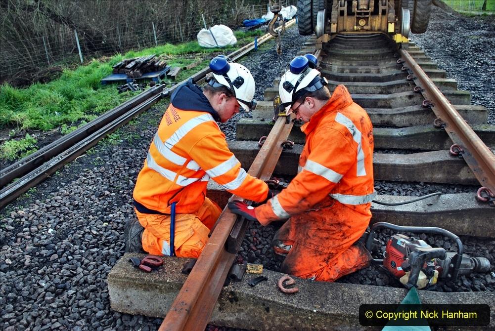 2020-01-09 Track renewal Cowpat Crossing to just beyond Dickers crossing. (15) 015