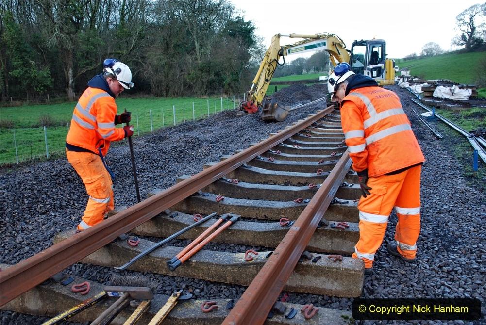 2020-01-09 Track renewal Cowpat Crossing to just beyond Dickers crossing. (20) 020