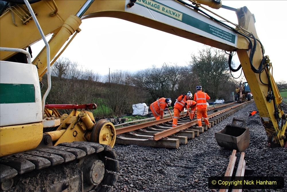 2020-01-09 Track renewal Cowpat Crossing to just beyond Dickers crossing. (25) 025