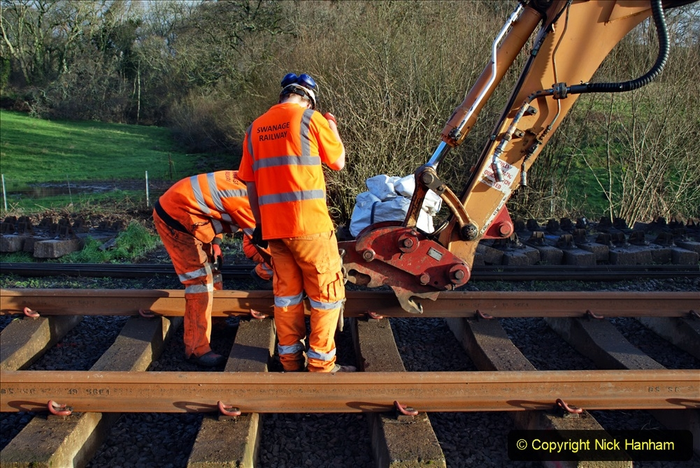 2020-01-09 Track renewal Cowpat Crossing to just beyond Dickers crossing. (29) 029