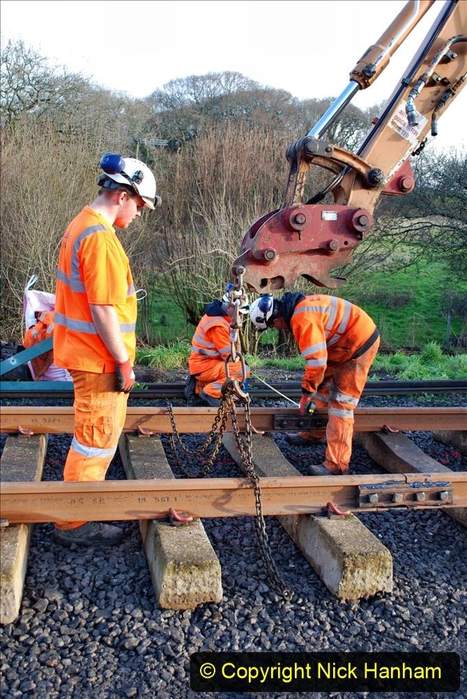 2020-01-09 Track renewal Cowpat Crossing to just beyond Dickers crossing. (34) 034