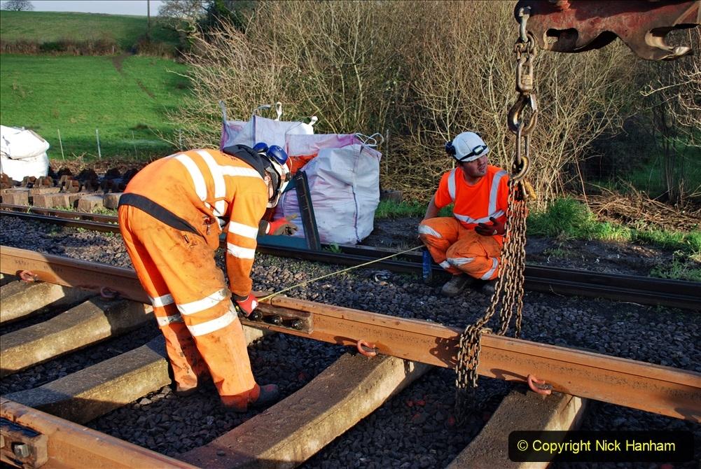2020-01-09 Track renewal Cowpat Crossing to just beyond Dickers crossing. (38) 038