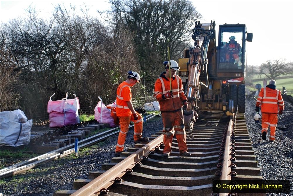 2020-01-09 Track renewal Cowpat Crossing to just beyond Dickers crossing. (46) 046