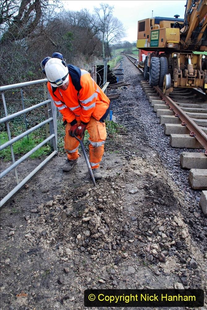 2020-01-09 Track renewal Cowpat Crossing to just beyond Dickers crossing. (49) 049
