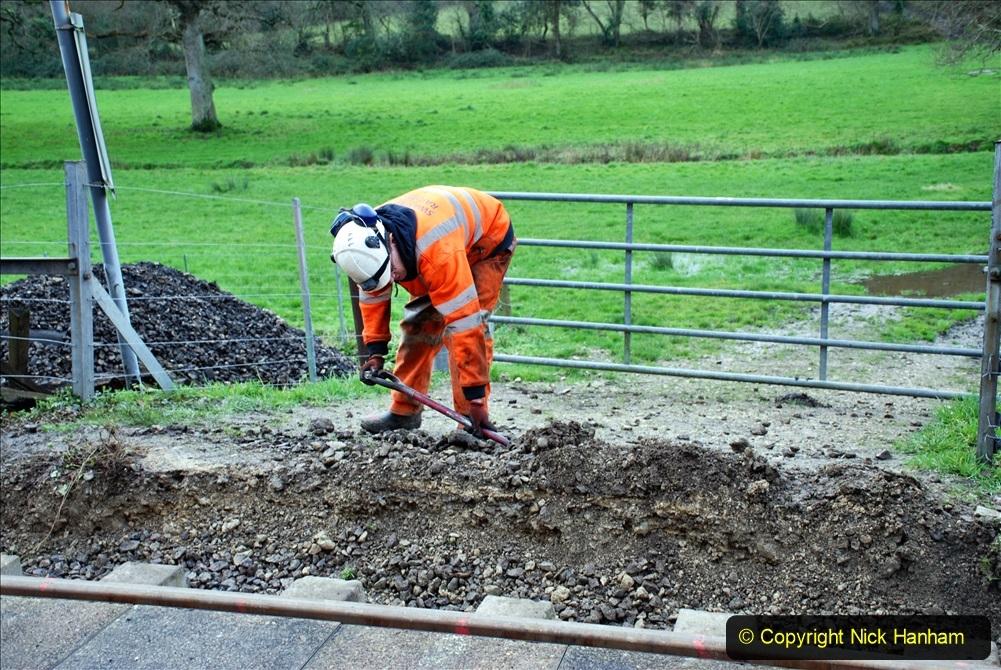 2020-01-09 Track renewal Cowpat Crossing to just beyond Dickers crossing. (50) 050