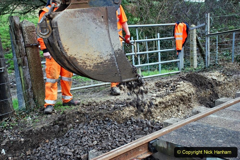 2020-01-09 Track renewal Cowpat Crossing to just beyond Dickers crossing. (55) 055