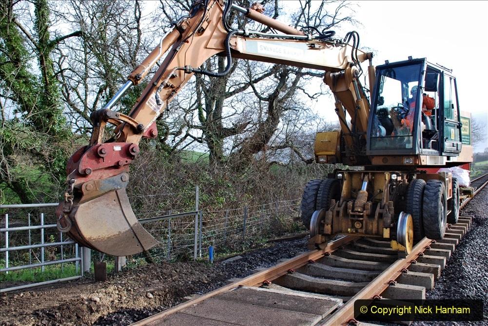 2020-01-09 Track renewal Cowpat Crossing to just beyond Dickers crossing. (56) 056