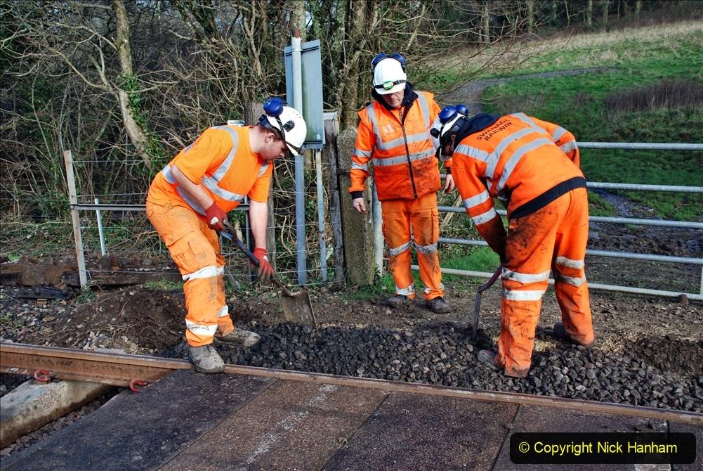 2020-01-09 Track renewal Cowpat Crossing to just beyond Dickers crossing. (61) 061