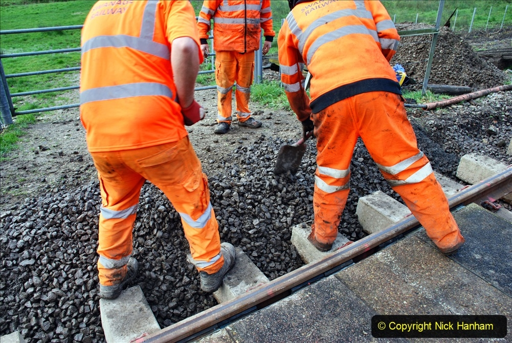 2020-01-09 Track renewal Cowpat Crossing to just beyond Dickers crossing. (64) 064
