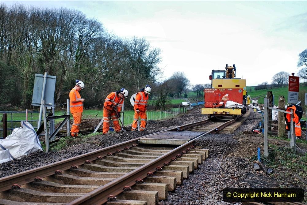 2020-01-09 Track renewal Cowpat Crossing to just beyond Dickers crossing. (65) 065