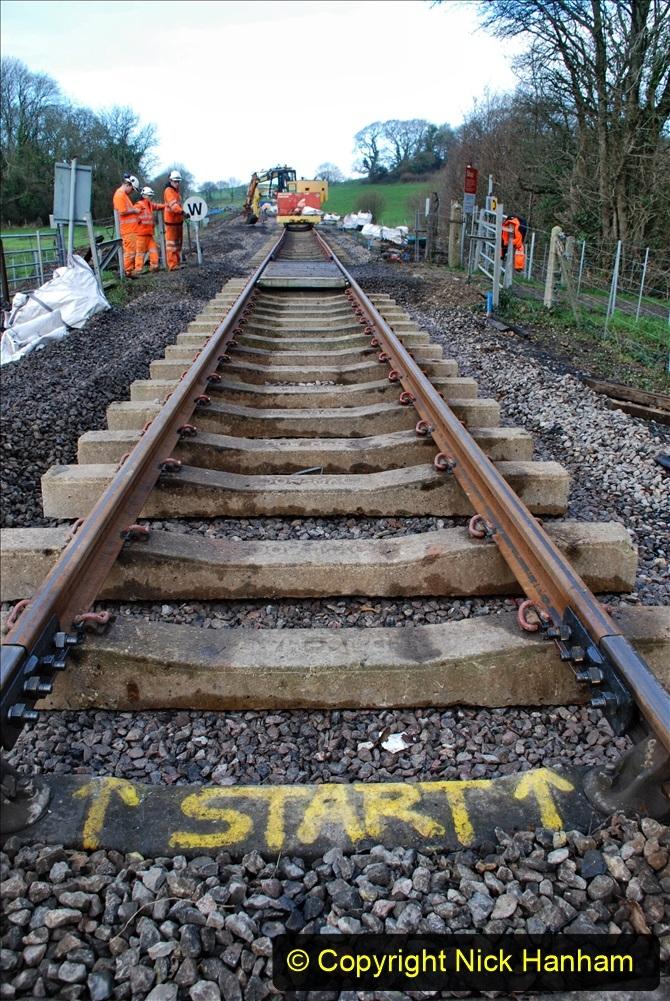 2020-01-09 Track renewal Cowpat Crossing to just beyond Dickers crossing. (66) 066
