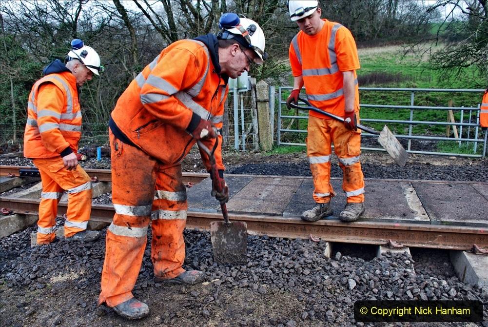 2020-01-09 Track renewal Cowpat Crossing to just beyond Dickers crossing. (67) 067
