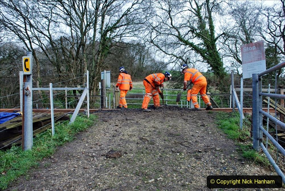 2020-01-09 Track renewal Cowpat Crossing to just beyond Dickers crossing. (71) 071