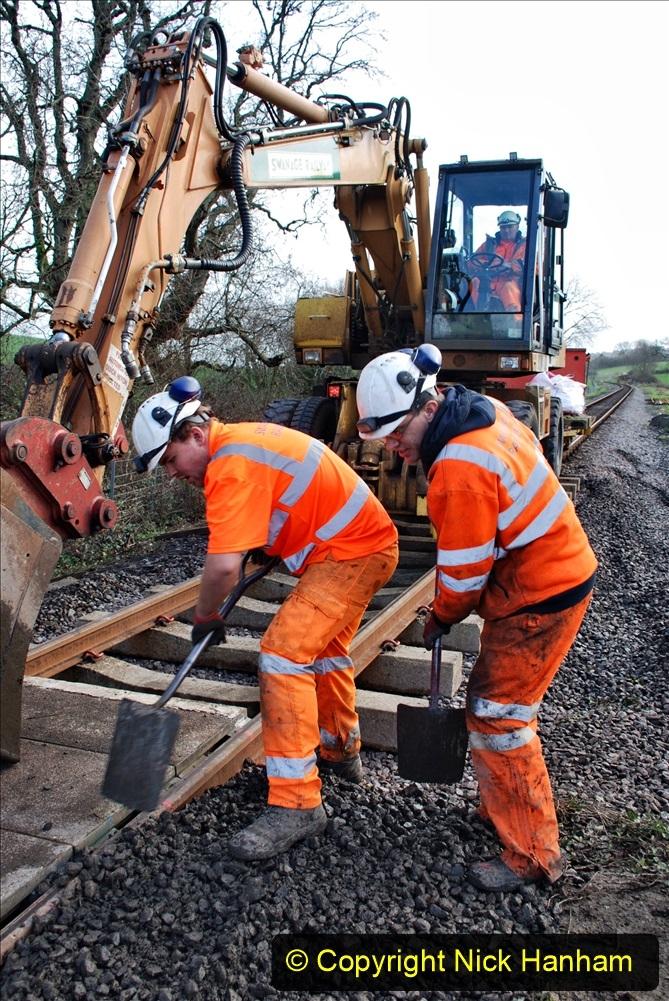 2020-01-09 Track renewal Cowpat Crossing to just beyond Dickers crossing. (72) 072