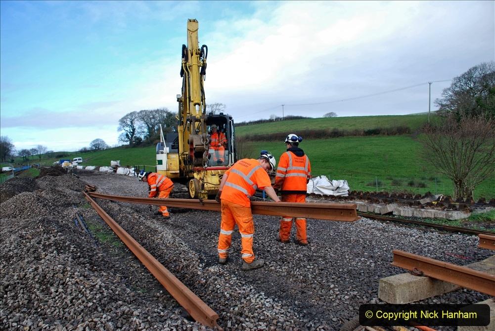 2020-01-09 Track renewal Cowpat Crossing to just beyond Dickers crossing. (74) 074