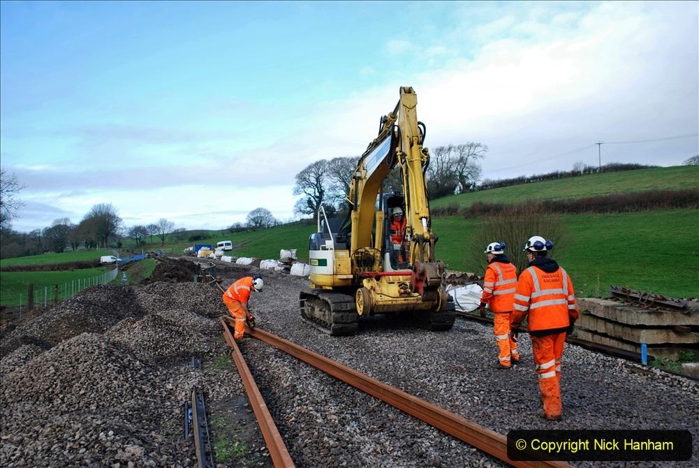 2020-01-09 Track renewal Cowpat Crossing to just beyond Dickers crossing. (75) 075