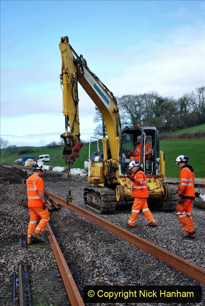 2020-01-09 Track renewal Cowpat Crossing to just beyond Dickers crossing. (76) 076