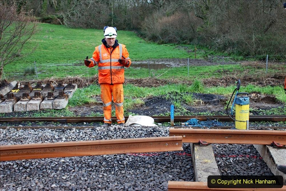 2020-01-09 Track renewal Cowpat Crossing to just beyond Dickers crossing. (77) 077