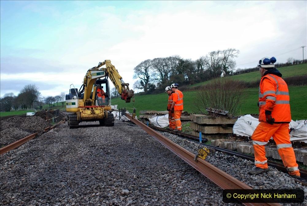 2020-01-09 Track renewal Cowpat Crossing to just beyond Dickers crossing. (79) 079
