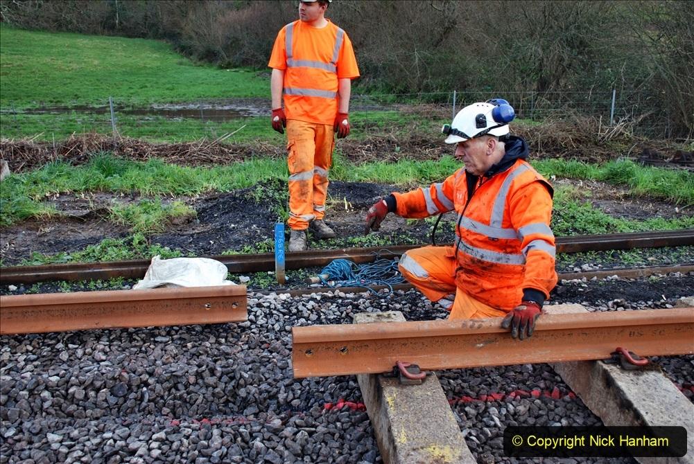 2020-01-09 Track renewal Cowpat Crossing to just beyond Dickers crossing. (80) 080