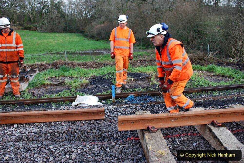 2020-01-09 Track renewal Cowpat Crossing to just beyond Dickers crossing. (81) 081
