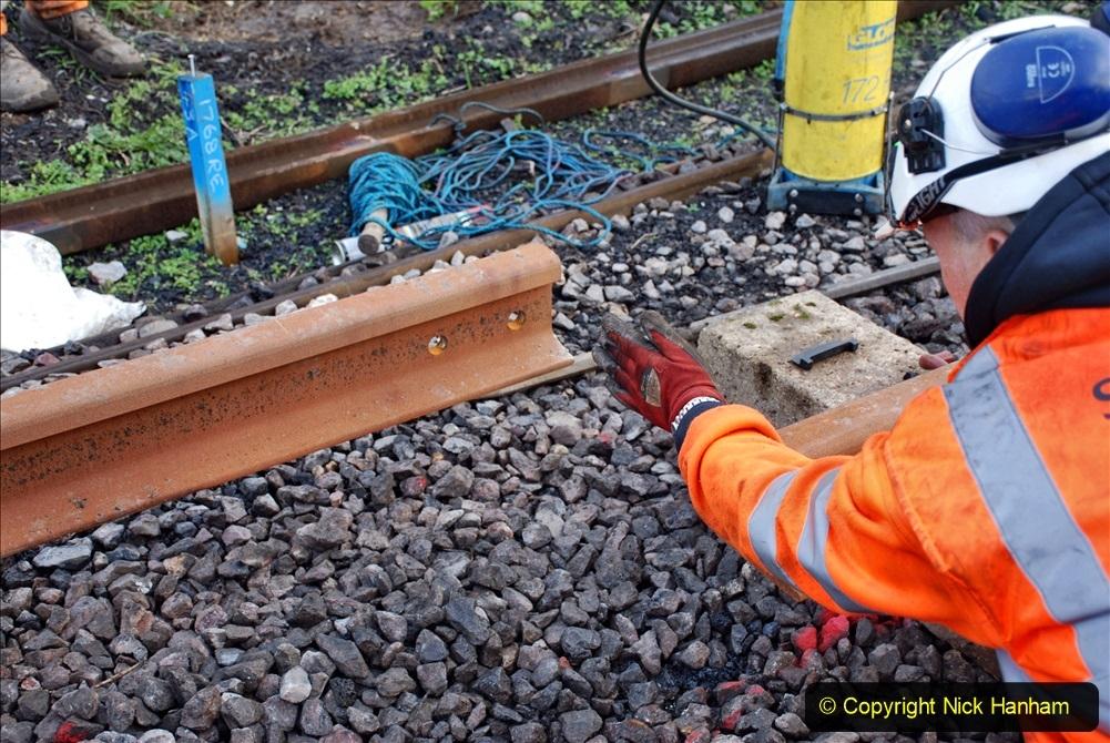 2020-01-09 Track renewal Cowpat Crossing to just beyond Dickers crossing. (82) 082