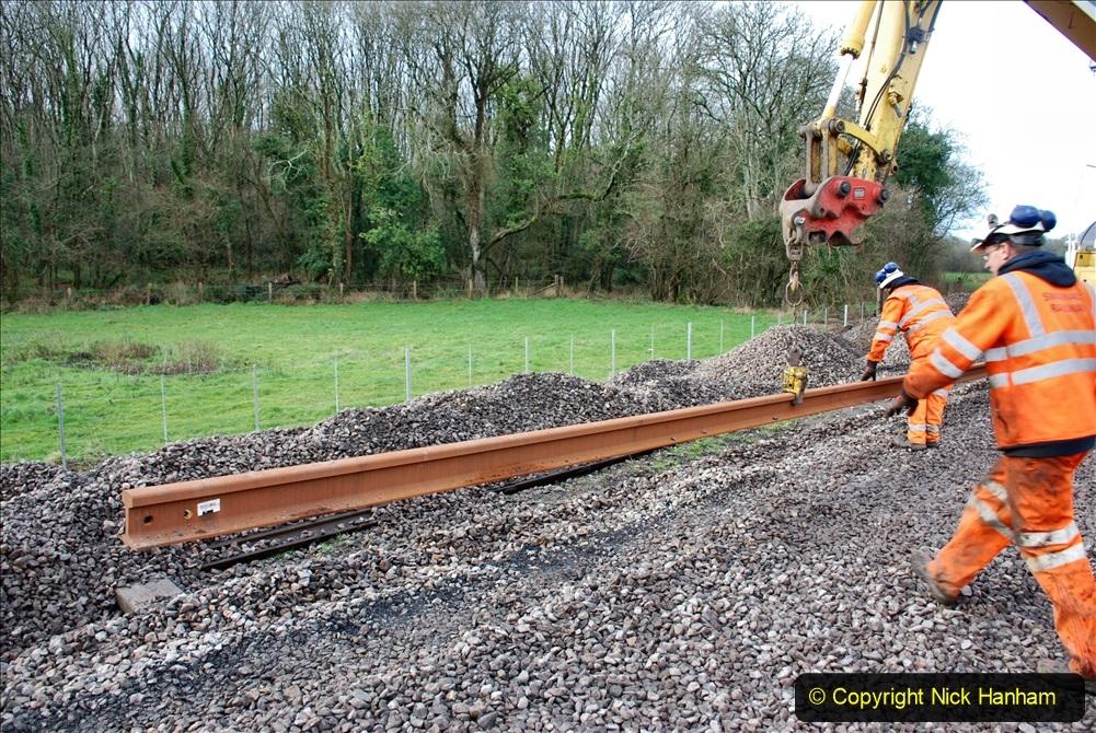 2020-01-09 Track renewal Cowpat Crossing to just beyond Dickers crossing. (83) 083