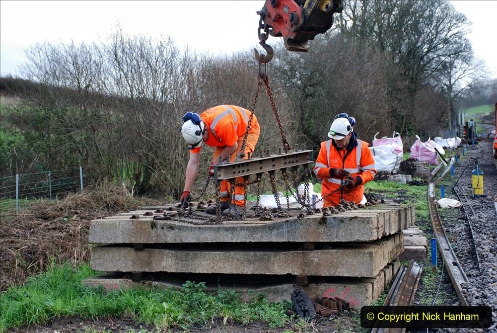 2020-01-09 Track renewal Cowpat Crossing to just beyond Dickers crossing. (89) 089