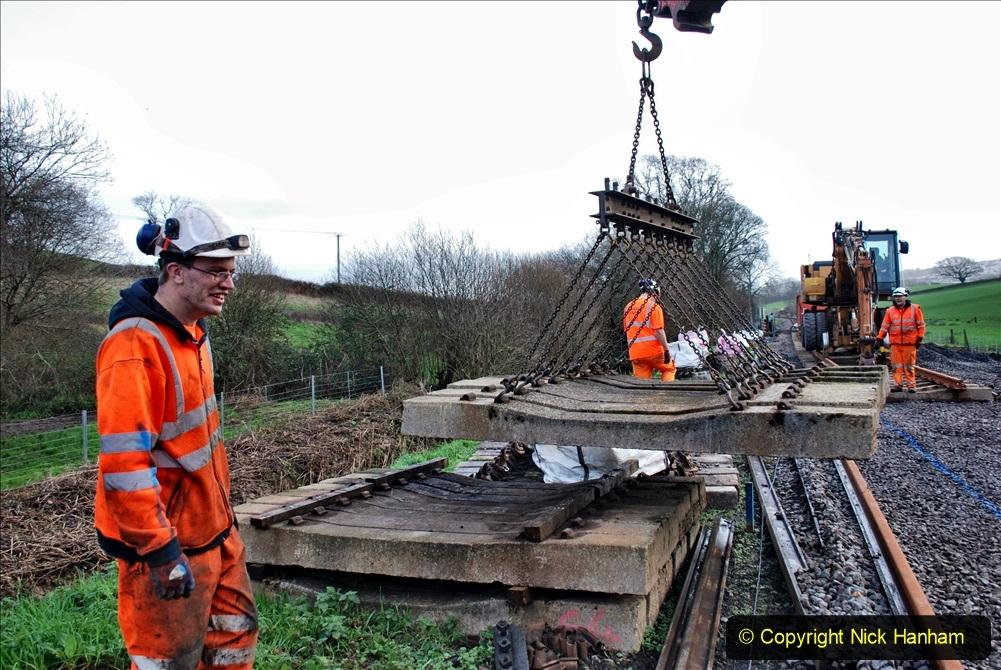 2020-01-09 Track renewal Cowpat Crossing to just beyond Dickers crossing. (90) 090