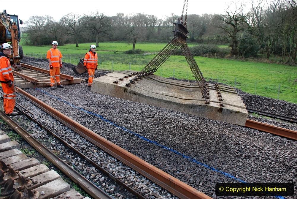 2020-01-09 Track renewal Cowpat Crossing to just beyond Dickers crossing. (91) 091