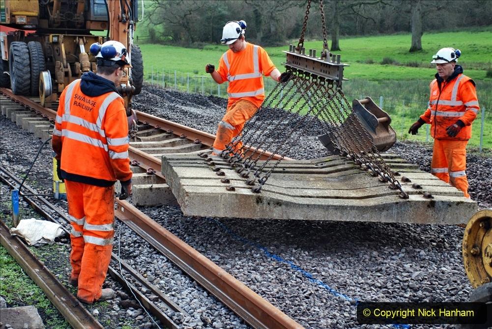 2020-01-09 Track renewal Cowpat Crossing to just beyond Dickers crossing. (92) 092