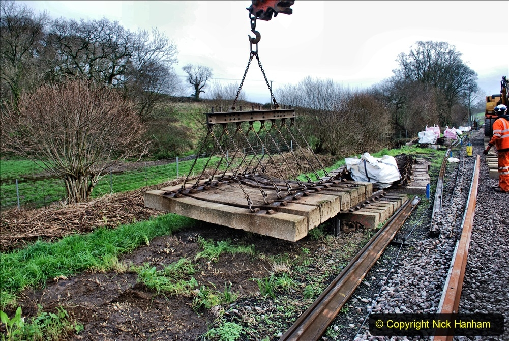 2020-01-09 Track renewal Cowpat Crossing to just beyond Dickers crossing. (95) 095