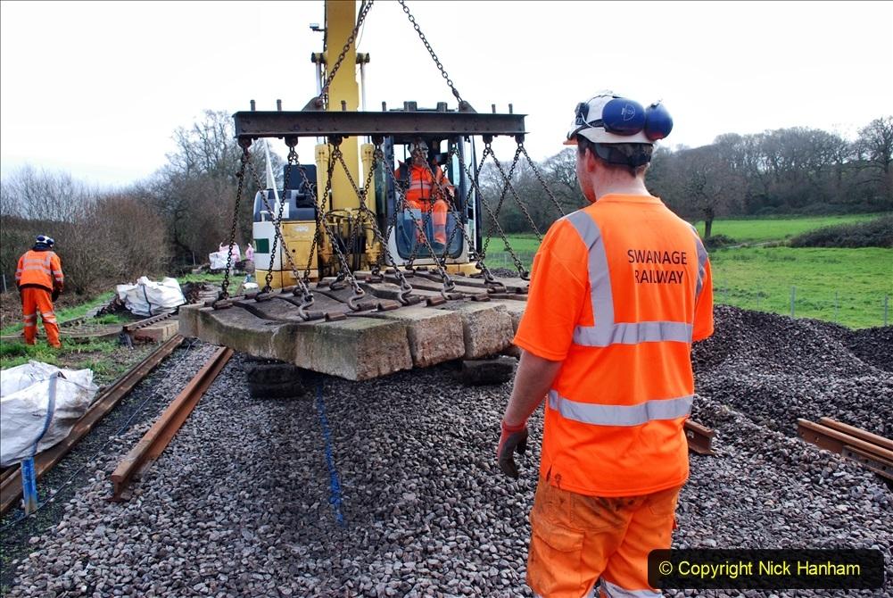 2020-01-09 Track renewal Cowpat Crossing to just beyond Dickers crossing. (96) 096