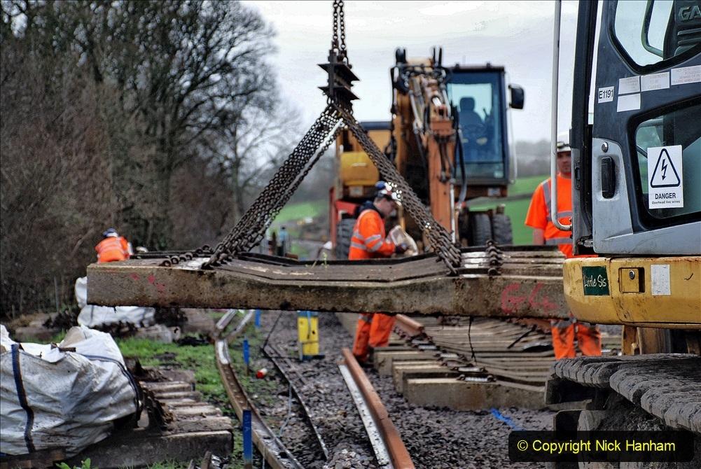 2020-01-09 Track renewal Cowpat Crossing to just beyond Dickers crossing. (98) 098