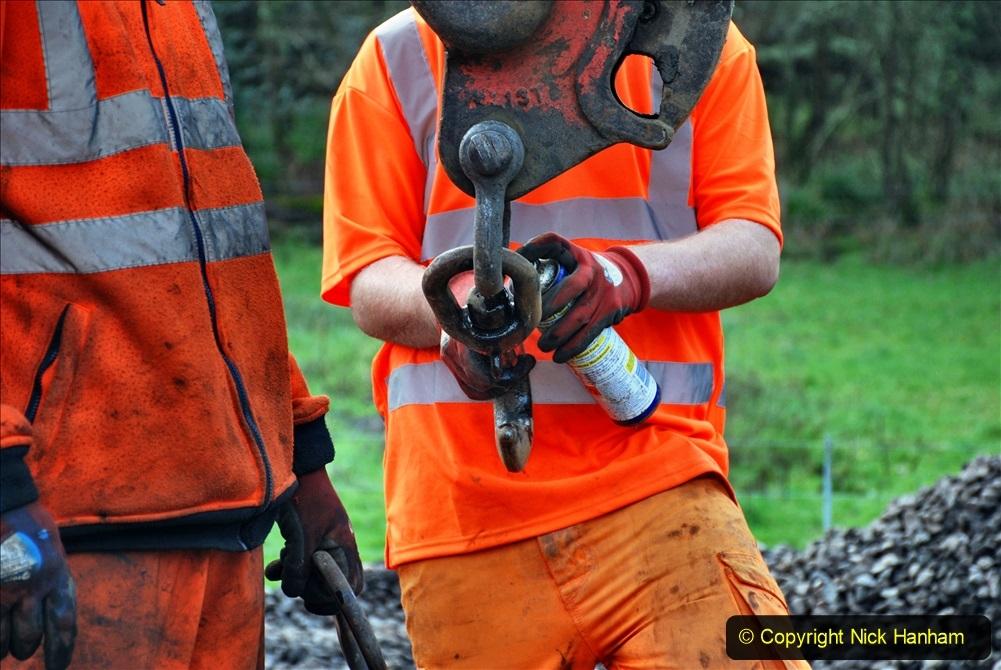 2020-01-09 Track renewal Cowpat Crossing to just beyond Dickers crossing. (99) 099