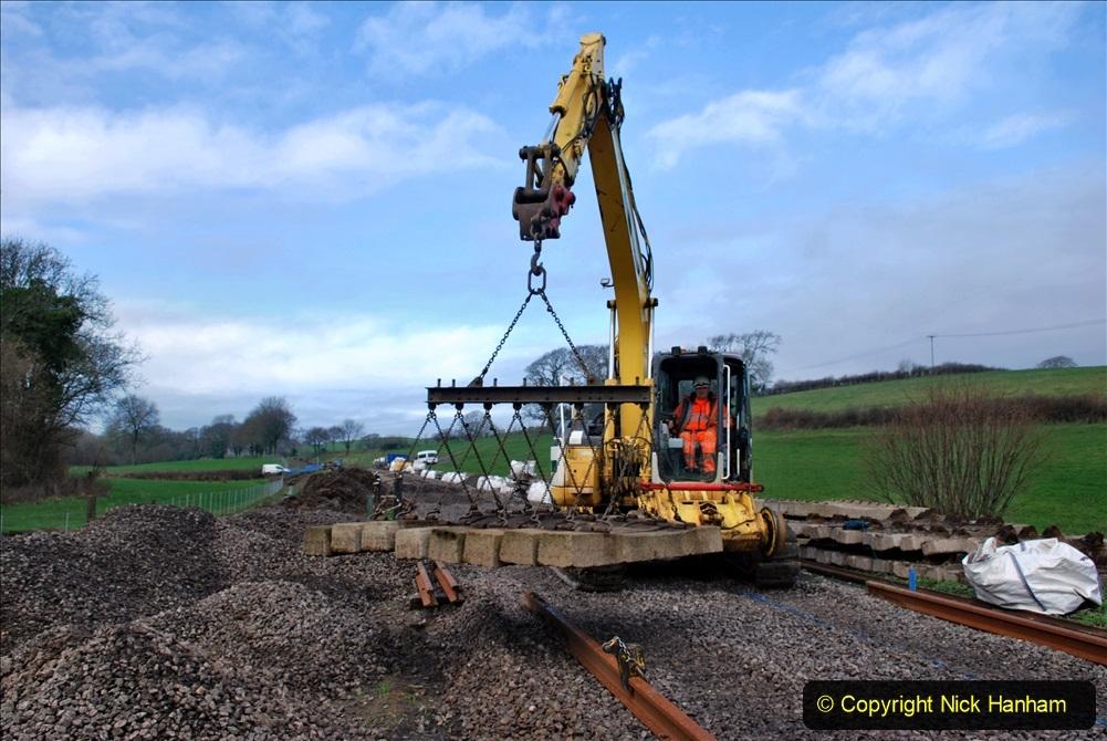 2020-01-09 Track renewal Cowpat Crossing to just beyond Dickers crossing. (102) 102