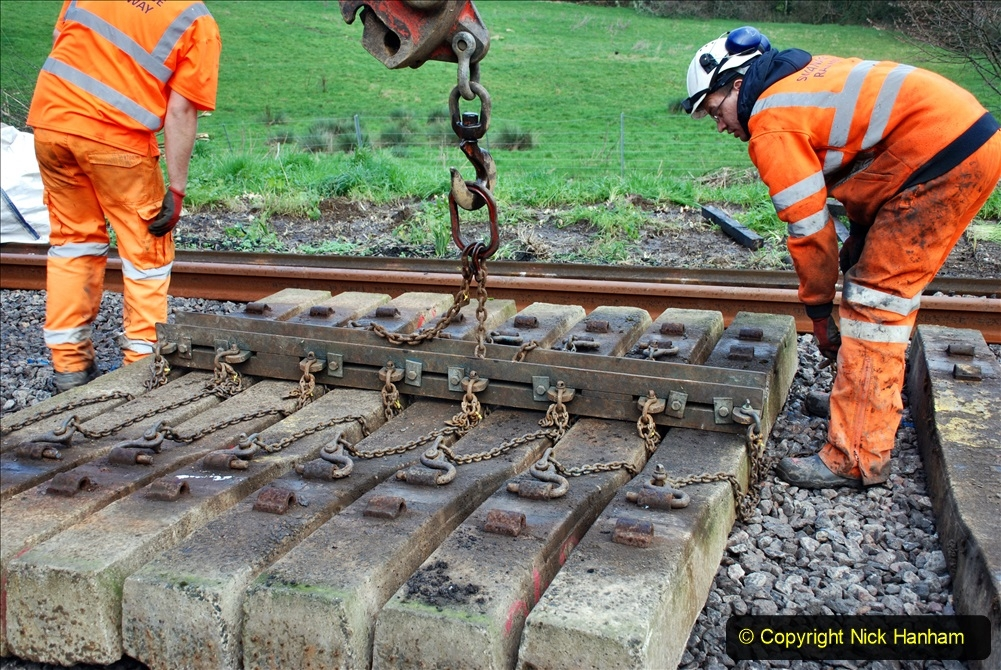 2020-01-09 Track renewal Cowpat Crossing to just beyond Dickers crossing. (105) 105