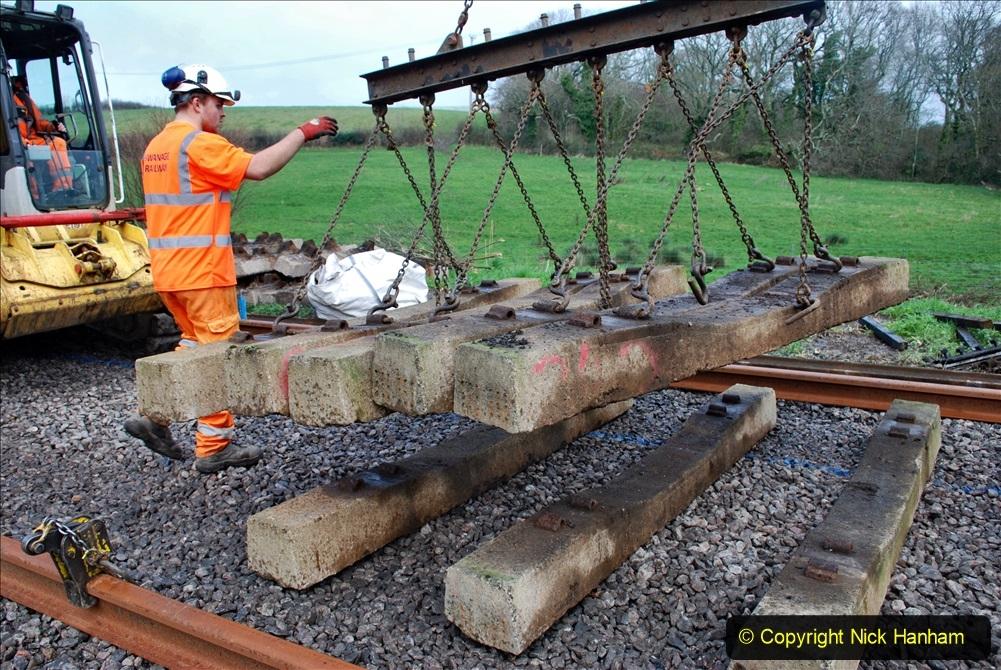 2020-01-09 Track renewal Cowpat Crossing to just beyond Dickers crossing. (106) 106