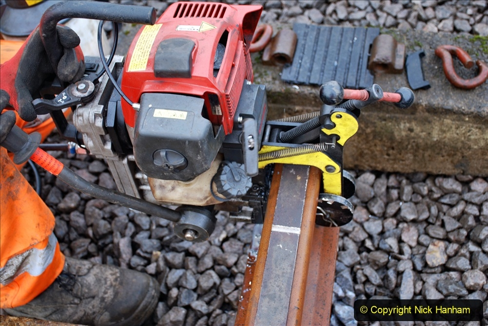 2020-01-09 Track renewal Cowpat Crossing to just beyond Dickers crossing. (115) 115